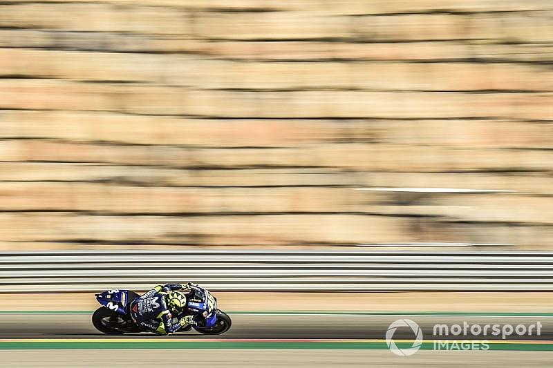 """Rossi califica de """"difícil"""" su día en Aragón"""