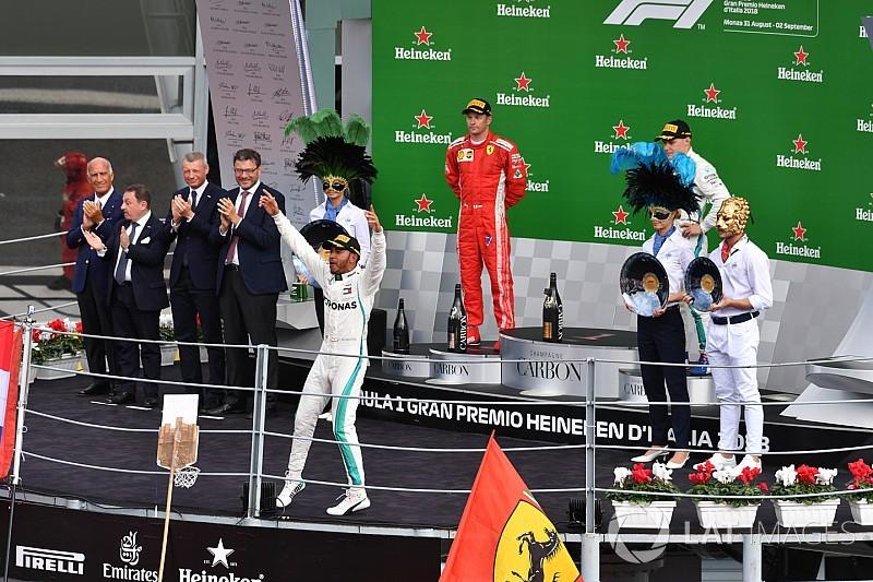 Winnaars en verliezers van de Grand Prix van Italië