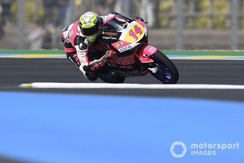 Pole de Arbolino con Rodrigo segundo en Moto3