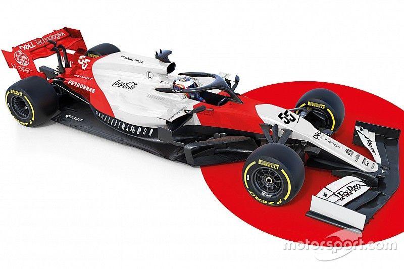 Designstudie: McLaren MCL34 in Weiß und Rot
