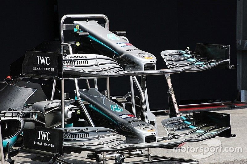Mercedes: sono state tagliate le punte lanceolate dei flap dell'ala anteriore