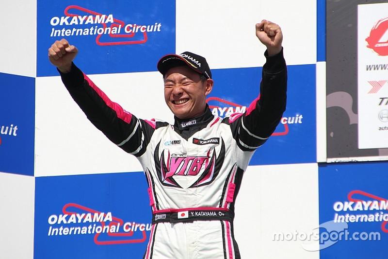 片山義章、ホームコースの岡山で念願の全日本F3初表彰台「明日は勝つ!」