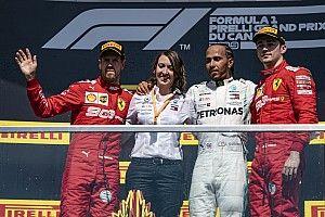 Vettel ging uit respect voor tegenstanders naar het podium