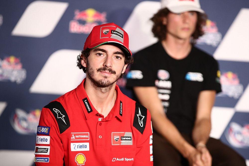 """Bagnaia: """"Ducati competitiva, ma occhio a Marquez!"""""""
