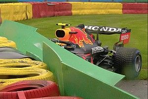 Red Bull wil gecrashte Perez laten starten in uitgestelde GP van België