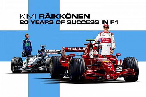 Kimi si ritira: i vent'anni di Raikkonen in F1