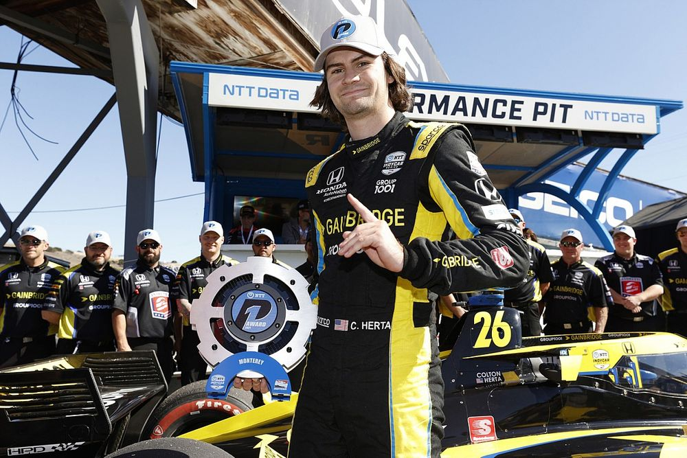 Herta pakt IndyCar-pole op Laguna Seca, tegenslag voor VeeKay
