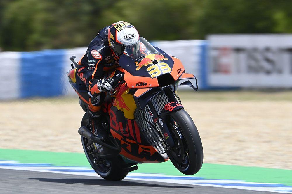 "Binder had to ""ride on a rock"" in Jerez MotoGP qualifying"