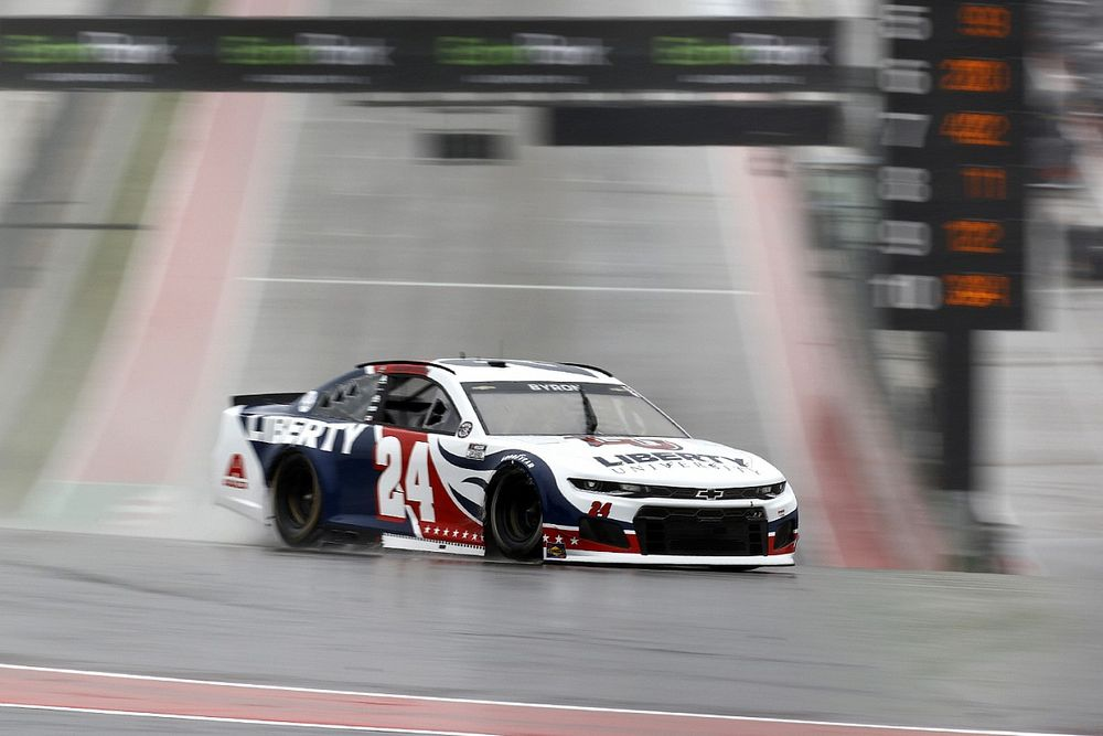 William Byron tops wild and wet NASCAR Cup practice at COTA