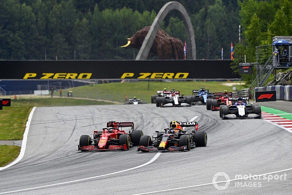 Vídeo: el calentón entre Pérez y Leclerc en el GP de Austria