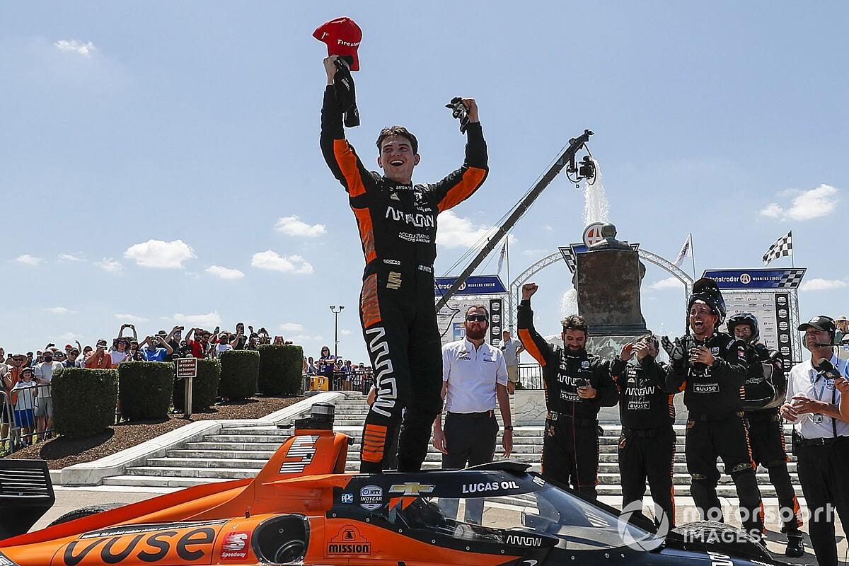 Patricio O'Ward gana el Gran Premio de Detroit y lidera la Indy Car