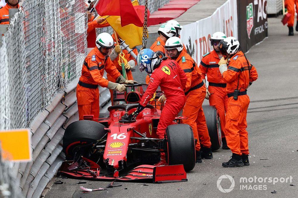 Ferrari believes Leclerc's broken driveshaft caused by Monaco qualifying crash