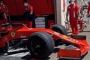 Ferrari a bouclé les tests Pirelli sur piste humide au Castellet