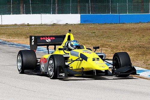 Lindh beats Andretti quartet in Indy Lights test at Sebring