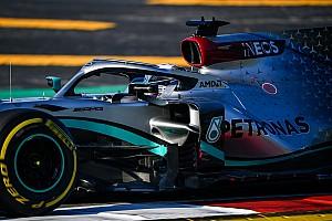 Le volant et les roues de Mercedes intriguent à Barcelone