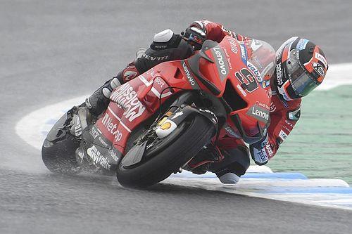 EL3 - Petrucci chipe la première place à Márquez sous la pluie