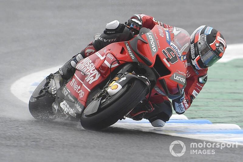 Motegi MotoGP: Petrucci leads Marquez in wet FP3