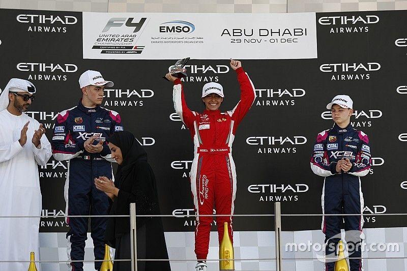 Una piloto gana en la F4 en Abu Dhabi
