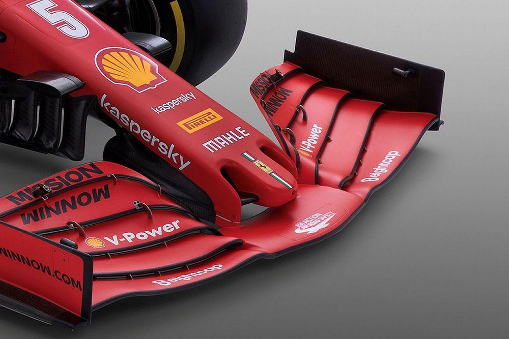 フェラーリ、フロントウイングのコンセプトは不変もダウンフォース増に自信