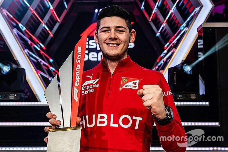 Tonizza consola la Ferrari con il titolo Esport di F1