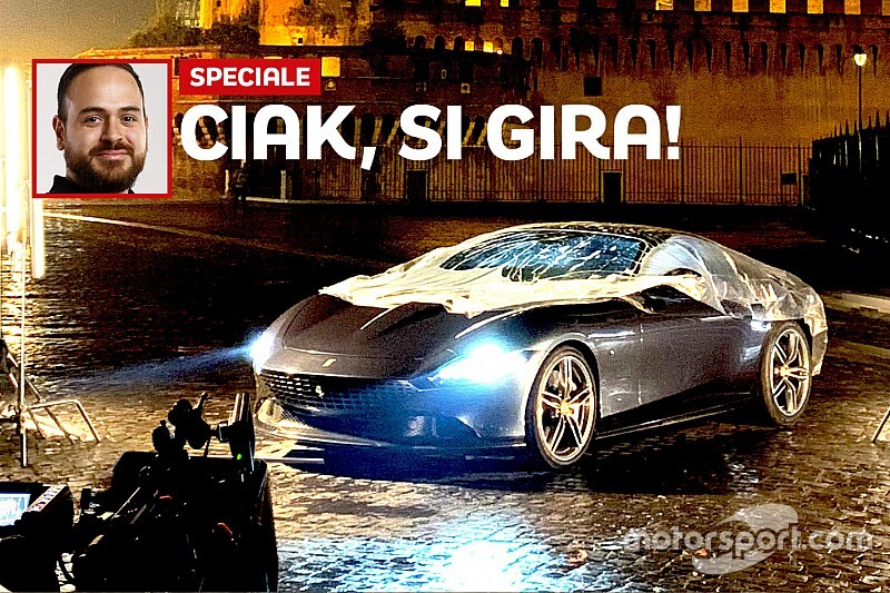 Ferrari Roma: il backstage dello spot girato nella Capitale