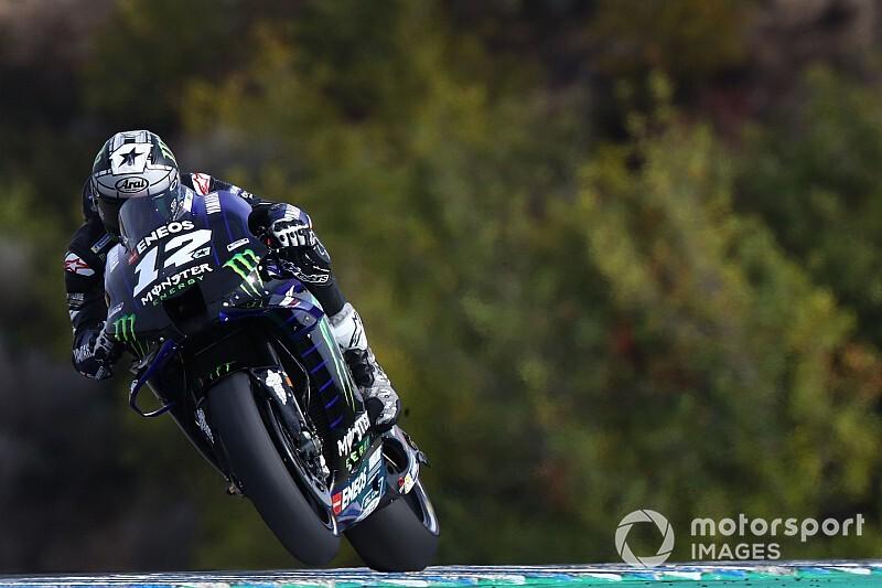 Viñales mantiene dominio en Jerez y Márquez sufre fuerte caída
