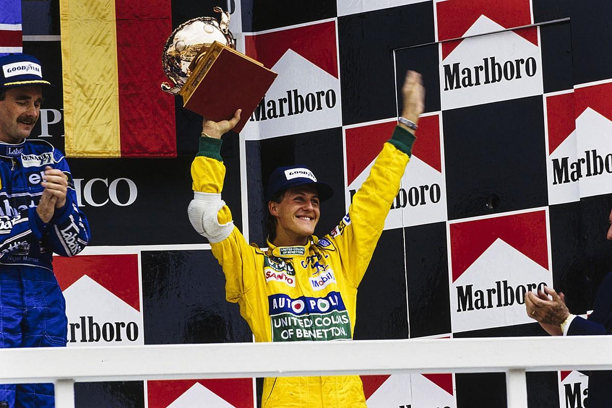 C'était un 22 mars : le premier podium de Michael Schumacher