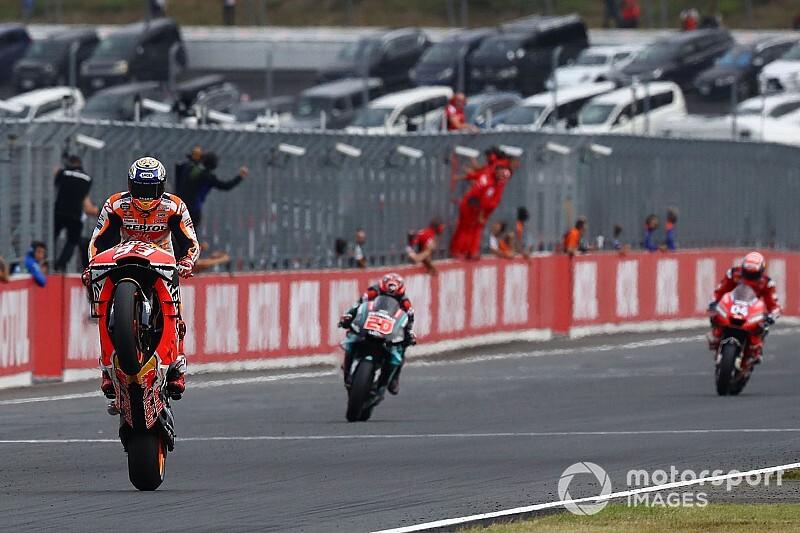 Márquez logra el décimo triunfo en Motegi; Honda el título de constructores