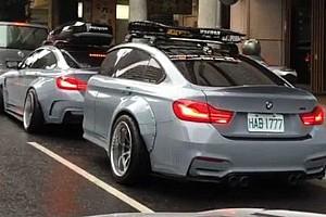 Videó: BMW alakú utánfutót épített BMW-jének egy tajvani sofőr
