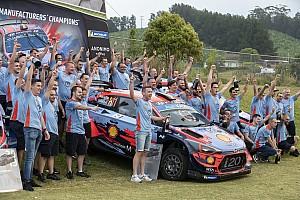 Hyundai празднует титул в WRC: фото