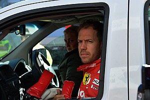 """Vettel over crash tijdens test in Barcelona: """"Voelde iets vreemds linksvoor"""""""