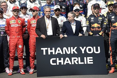 Zoon Charlie Whiting start Britse F1 Grand Prix