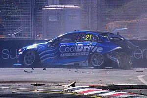Adelaide 500: Mclaughlin tops practice, Jones crashes heavily
