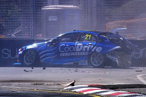 Adelaide 500: Mclaughlin tops practice, Jones crashes heavily