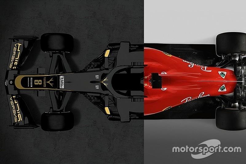 Haas 2019 Vs. Ferrari 2018: grafikai összehasonlítás