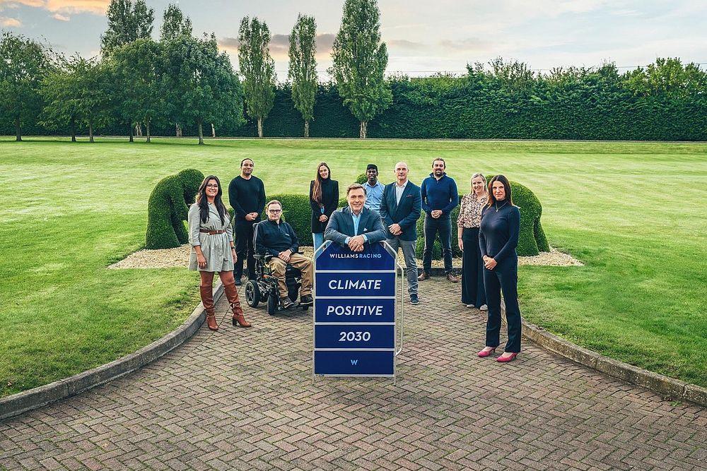 Williams F1 Team wil in 2030 klimaatpositief zijn