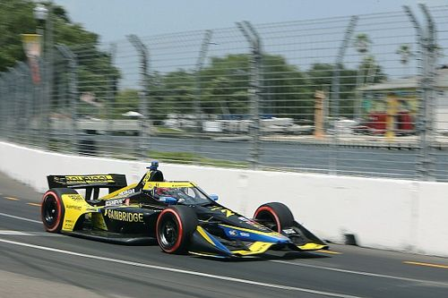 Pole-winner Herta puzzled by tires, happy with family ties