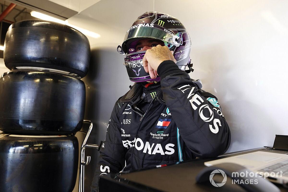 Hamilton 'nog niet honderd procent' in Abu Dhabi na COVID-19