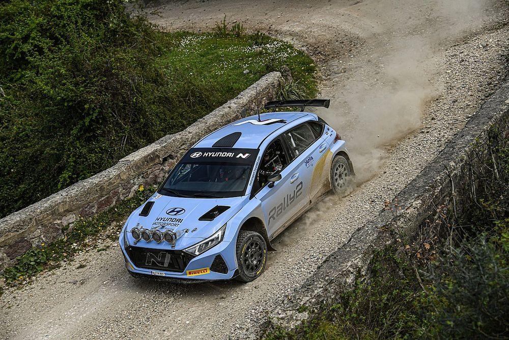 WRC: Solberg all'Acropoli con la Hyundai i20 N Rally2