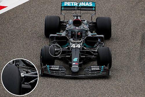 Mercedes: la pancia della gomma Pirelli influenza la W11?