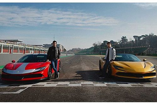 Sainz y Leclerc se divierten en Imola, con el increíble Ferrari SF90