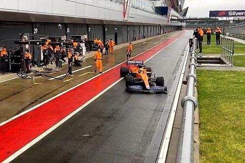 McLaren начала обкатку MCL35M в Сильверстоуне: фото и видео