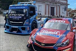 Djalma Pivetta, da Copa Truck, acelera caminhão em prova de subida de montanha