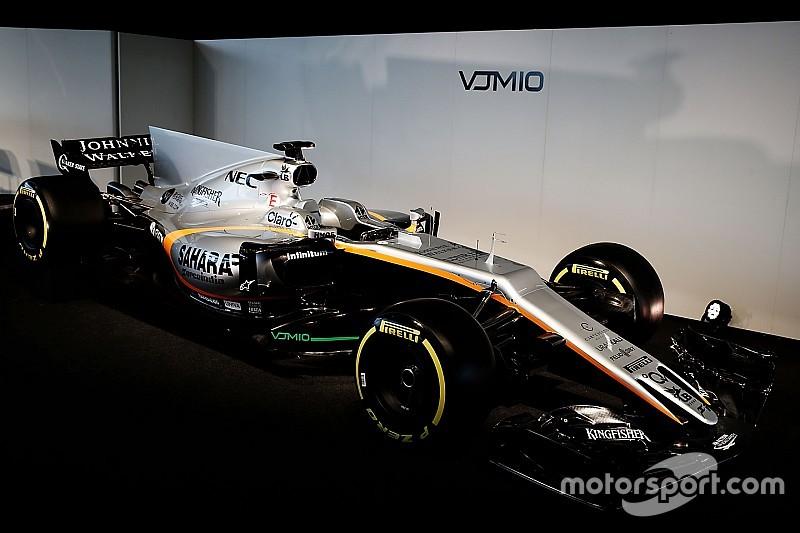【F1】フォースインディア、2017年型マシンVJM10を発表