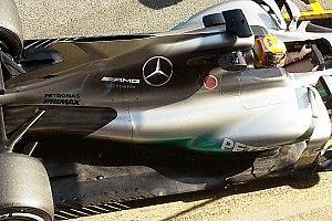 Tes Barcelona: Mercedes uji coba model sirip hiu terbaru