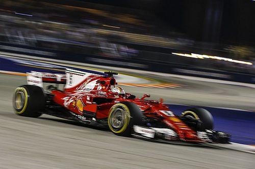 """Vettel kust de muur: """"Ik heb geluk gehad"""""""