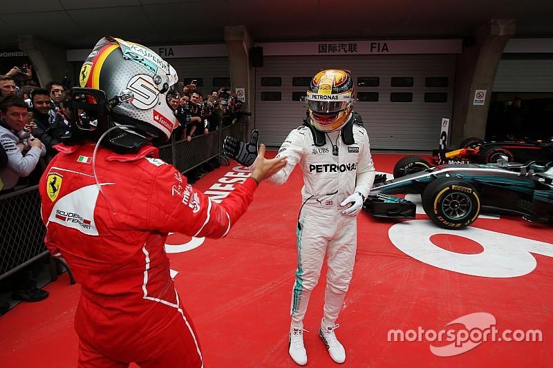 Hamilton puji strategi Mercedes usai kalahkan Vettel