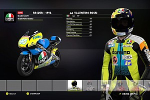 Virtual Special feature Evolusi Valentino Rossi di video game
