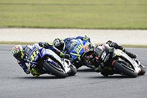 """Rossi: """"Crazy"""" Iannone cost me shot to beat Marquez"""