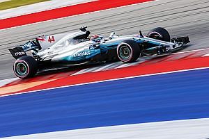 F1アメリカ:完全ドライとなったFP3もハミルトンが首位。2番手ベッテル